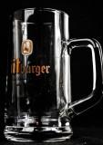 Bitburger, Bier, Bierglas, Exclusive Seidel, Bierkrug 0,3l, sehr altes Glas