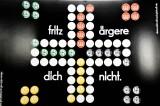 Fritz Kola, Fritz ärgere dich nicht Spielplan- Pappe, schwarz