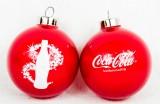 Coca Cola, 2 x Weihnachtskugeln aus Echtglas, rote Ausführung