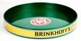Brinkhoff´s Bier, Serviertablett, Rundtablett, Kellnertablett, grüne Ausführung
