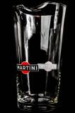 Martini Wermuth Karaffe, Wasserkaraffe Pitcher aus Glas, alte Ausführung