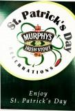 Murphys Beer, St. Patricks Schild aus Pappe, original aus den 70er Jahren