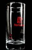 Mariacron Weinbrand Glas / Gläser, Longdrinkglas mit rotem Wappen 2cl/4cl