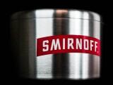 Smirnoff Vodka, Edelstahl, Eiswürfelbehälter, Flaschenkühler 10l, 3 teilig
