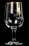 Hasseröder Glas / Gläser, Bierglas Ritzenhoff Tulpe, Goldrand 0,25l