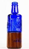 Acqua Morelli Wasser, Glas Blumenvase im typischen Morelli Blau als Flasche