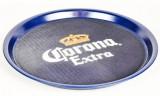 Corona Bier, Serviertablett, Kellnertablett, blau, runde Ausführung