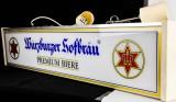 Würzburger Hofbräu Bier , Tresenreklame, Neonleuchte, Leuchtreklame, Leuchtwerbung