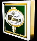 Bitburger Bier, Neon Leuchtreklame, Leuchtwerbung, Messingumrandung