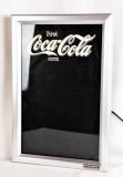 Coca Cola, Neon Schreibtafel aus Aluminium, beleuchtet, incl. Stifte und Schwamm