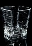 Ballantines Glas / Gläser, Whiskyglas, Tumbler, eckige schwere Ausführung B