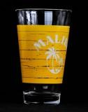 Malibu Rum, Gläser, Longdrinkglas, Cocktailglas, gelbe Ausführung