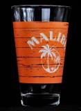 Malibu Rum, Gläser, Longdrinkglas, Cocktailglas, orange Ausführung