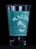 Malibu Rum, Gläser, Longdrinkglas, Cocktailglas, grüne Ausführung