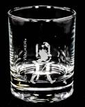 Johnnie Walker Glas / Gläser, Whiskyglas, Tumbler, rund, rosted Striding Man graviert