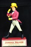 Johnnie Walker Standfigur, Figur, Werbefigur auf Sockel, Kuststoff, sehr rar