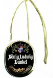 König Ludwig Dunkel, Bier, Keramik Zapfhahnschild an Goldkette