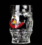 Schultheiss Lager Bier, Bierseidel, Glaskrug, Bierkrug 0,4l, alte Ausführung