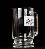 Tuborg Beer, Glaskrug, Bierseidel, Bierkrug 0,4l, satiniertes Logo