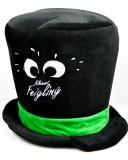 Kleiner Feigling Likör, LED blickend Zylinder, Hut, schwarze Ausführung, groß