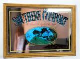 Southern Comfort, Werbespiegel in Echtholzrahmen braun The grand old..,Vintage, kleine Ausführung