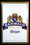 Sanwald Weizen, Bier, Blechschild, Werbeschild, nach feinster Brauart