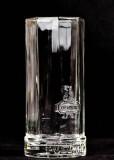 Puschkin, Vodka, Gläser, Longdrinkglas, Logo und Schriftzug in Relief,oben eckig