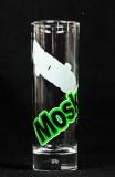 Moskovskaya, Vodka,Longdrinkglas 2cl/4cl, Schriftzug grün geschwungen