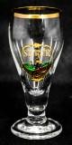 Schwarzer Steiger, Gläser, Schwarzbier, Minipokal-Bierglas, Goldrand