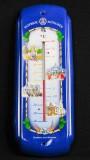 Hofbräu, Bier, Thermometer, blau aus Metall, für Innen und Aussen