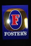 Fosters Bier, Werbeschild, Reklameschild, Emaile Schild, 40 x 30cm, blau