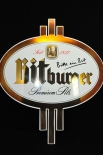Bitburger Bier, Emaile Werbeschild, Blechschild Premium Pils kl. Ausführung
