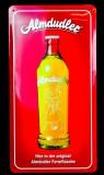 Almdudler Limo, Blechschild, Werbeschild, Almdudler Formflasche