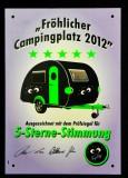 Kleiner Feigling, Kunststoffschild, Fröhlicher Campingplatz 2012