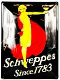 Schweppes, Blechschild, Werbeblechschild, Reklameschild, since 1783