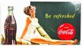 Coca Cola, Blechschild, Werbeschild, Be refreshed 22x40cm