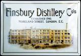 Finsbury Gin, Blechschild, Werbeblechschild, Finsbury Distillery Co´s