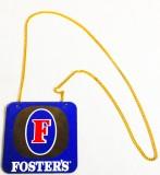 Fosters Bier, Emaileschild, Zapfhahnschild mit Kette