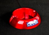 Campari, Likör, Aschenbecher aus Aluminium, rote Ausführung