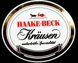 Haake Beck Bier, Werbeschild, Reklameschild, Blechschild, Emaile Schild, Kräusen