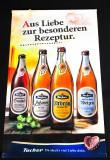 Tucher Bier, Stoffbanner, Minibanner, Werbebanner,  Aus Liebe zur besonderen Rezeptur