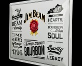 Jim Beam Whisky, 3D Werbeblechschild, Blechschild Beam Family