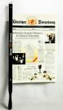 Köstritzer Bier, Zeitungshalter Buchenholz mit Selbstverschluß, ESL 51cm