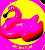 Salitos Bier, XXL aufblasbare Badeinsel, Schwimminsel, Flamingo pink