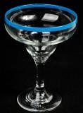 Sierra Tequila, Margarita Cocktail Glas, türkisen Rand