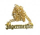 Jägermeister Likör, Goldkette, Halskette, Panzerkette aus Vollmetall