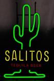 Salitos Bier, LED Neon 3 farbige Leuchtreklame, Leuchtwerbung Dimmer Kaktus