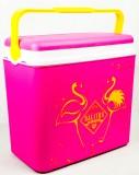 Salitos Bier, Kühlbox, Kühltasche, Kühlcontainer 24l pink / weiß