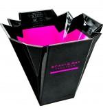 Scavi & Ray Presecco, Design Flaschenkühler, Eiswürfelbehälter, schwarz / pink