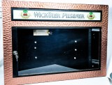 Wicküler Brauerei Pilsener, XXL Speisekartenkasten 70er Jahre, Kupferdesign, RAR